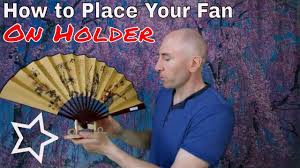 Large Oriental Wall Fans by How To Place Your Table Display Fan On The Small Fan Holder Youtube