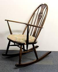 Ercol Windsor Rocking Chair An Ercol Swan Back Rocking Chair