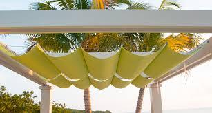 manually retractable pergola canopies