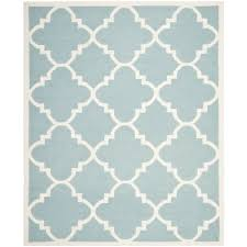 Safavieh Rugs Overstock by Hand Woven Moroccan Dhurrie Light Blue Wool Rug 9 U0027 X 12