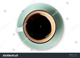 americano espresso americano black coffee cup top stock photo 535236088