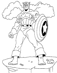 flying captain america coloring pages for kids super heroes