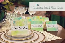 diy place cards diy watercolor wash place cards green wedding shoes weddings