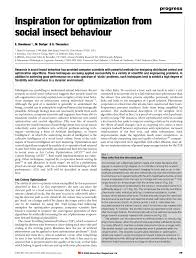 si e social toulouse inspiration for optimization from social insect behavior pdf