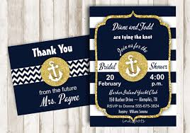nautical bridal shower invitations 30 bridal shower invitations printable psd ai vector eps