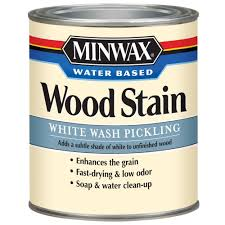 Minwax  Qt White Wash Pickling Water Based Stain The - Interior wood stain colors home depot