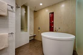 Frosted Glass For Bathroom Soaking Tub Bathroom Contemporary With Frosted Glass Floor Drain