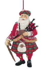 scottish santa ornament scottish ornaments store name