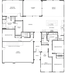Floor Plans For One Story Homes 4 Bed 3 Bath Single Story Homes Flagstone Floor Plan 1