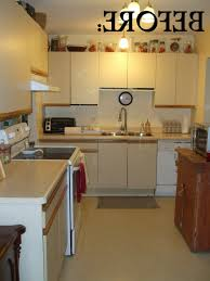 Can I Paint Over Laminate Kitchen Cabinets Rustic Painted Cabinets Inexpensive Kitchen Fixup Ideas