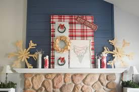 Christmas Handmade Decorating Ideas Holiday Handmade Decorating A Fireplace Mantel With Christmas Diy