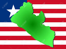 Liberia Map Map Of Liberia And Liberian Flag Illustration Stock Photo Picture