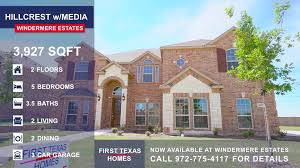 First Texas Homes Hillcrest Floor Plan Now Available 3026 Lemanns Street Midlothian Tx 76065 For