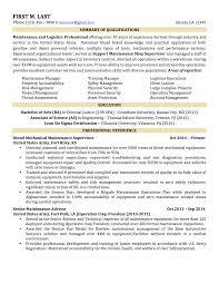 Logistics Executive Resume Samples Military Resume Examples And Samples Resume For Your Job Application