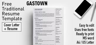 Traditional Resume Sample by Gastown Free Traditional Resume Template