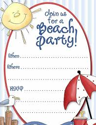 swimming pool party invitation templates