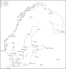 Scandinavia Map Scandinavia Free Map Free Blank Map Free Outline Map Free Base