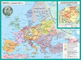 Map Of Europe 1648 by