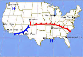 weather fronts map lesson3 fronts