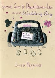 son u0026 daughter in law wedding day greeting card cards love kates