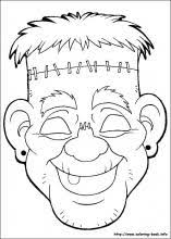 Coloring Pages Halloween Masks | halloween masks coloring pages on coloring book info
