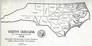 North Carolina State Map by Some Early Nc Maps