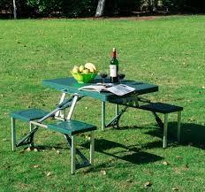 Portable Folding Picnic Table Green Outdoor Aluminum Portable Folding Cing Picnic Table