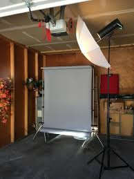how i shot it simple one light portrait studio setup in a garage in this case the studio consisted of a single car garage stall with approximately 9 foot ceilings there was fashion gray seamless paper but no official