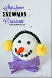 styrofoam snowman ornaments snowman ornament and craft