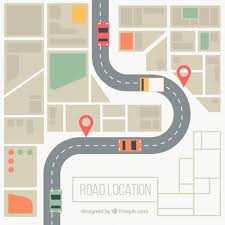 road map road map background in desaturated colors vector free