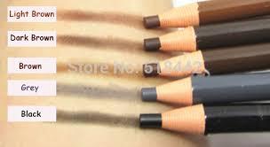 light grey eyebrow pencil wholesale paper packaged eyebrow pencil black grey brown light