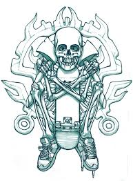 skateboard skeleton tattoo sketch best tattoo ideas gallery