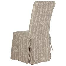 linen slip cover for echo dining chair with skirt
