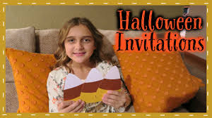 the cutest handmade halloween invitations youtube