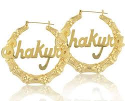 name earrings gold 24k gold plated bamboo name earrings keti sorely designs