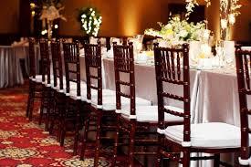 mahogany chiavari chair tables linens chairs and seating