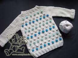 Easy Knitted Sweater Patterns For Babies Cool Design With Bobbles