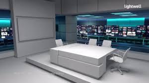 Office Set Design Lightwell Reel Set Design Virtual Sets And Digital Backdrops On