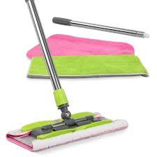 Laminate Floor Mop Amazon Com Linkyo Microfiber Floor Mop 3 Reusable Mop Pads And