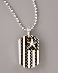 baby dog tags king baby studio flag dog tag pendant necklace in metallic for men