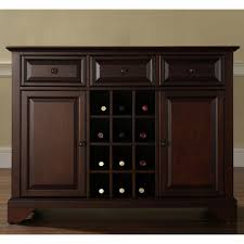lafayette buffet server sideboard cabinet with wine storage in
