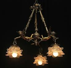 Ebay Ceiling Light Fixtures by Vintage Bronze French Shabby Flying Chic Cherub Chandelier With