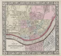 Ohio Canal Map by File 1864 Mitchell Map Of Cincinnati Ohio Geographicus