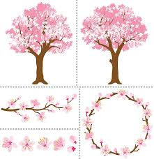 royalty free cherry blossom tree clip vector images