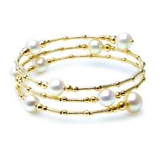 yellow gold bracelet with pearls images Akoya pearl bracelet jpg