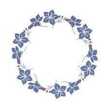 flower tattoo ring blue flower ring temporary tattoo is a delicate design