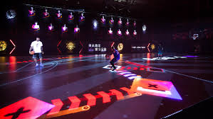 Basketball Courts With Lights Interactive Led Basketball Court Led Light Installations Lednews