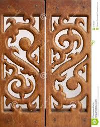 carved wooden work stock image image of leaf curve 40764597