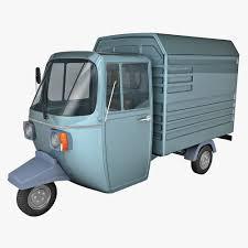 bajaj auto rickshaw 3d model