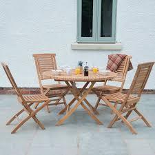 Garden Sofa Dining Set Teak Garden Furniture Dining Set 4 Seat Round Folding Table